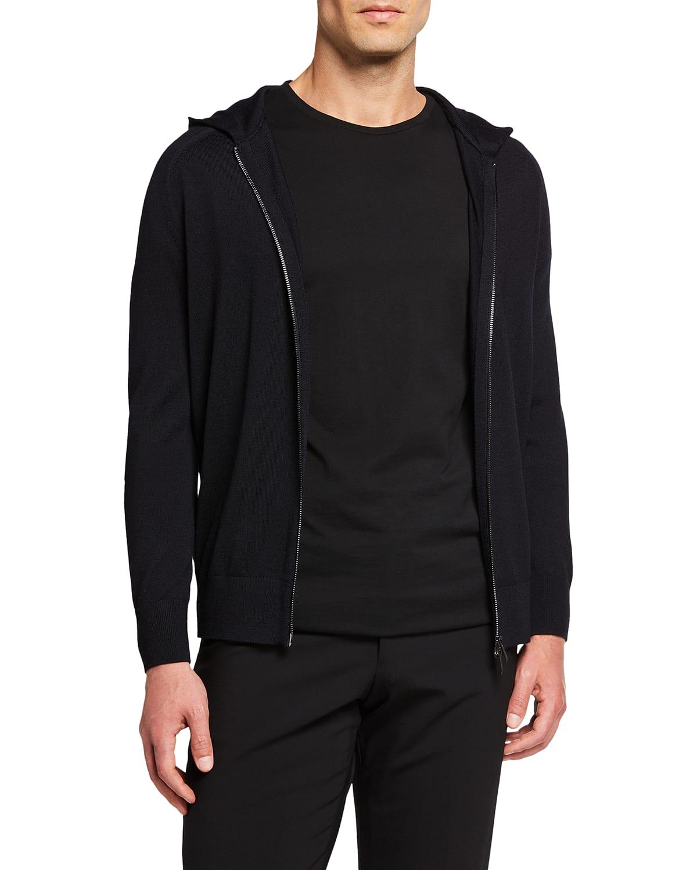 Men's Travel Zip-Up Hooded Sweater