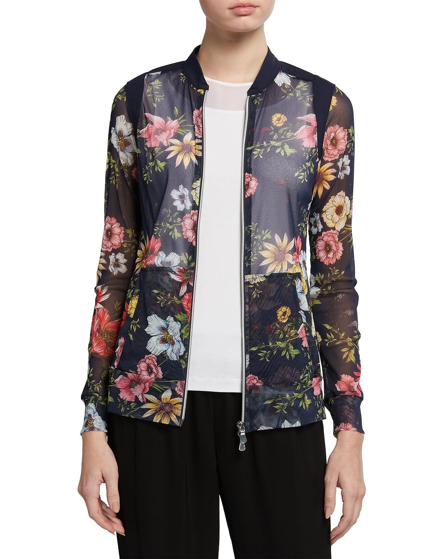 Svana Printed Mesh Jacket