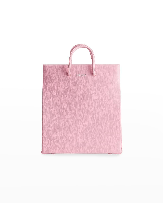 Saffiano Leather Short Tote Bag