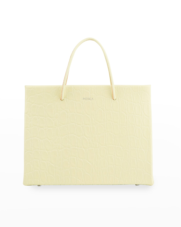 Hanna Prima Croc-Embossed Tote Bag