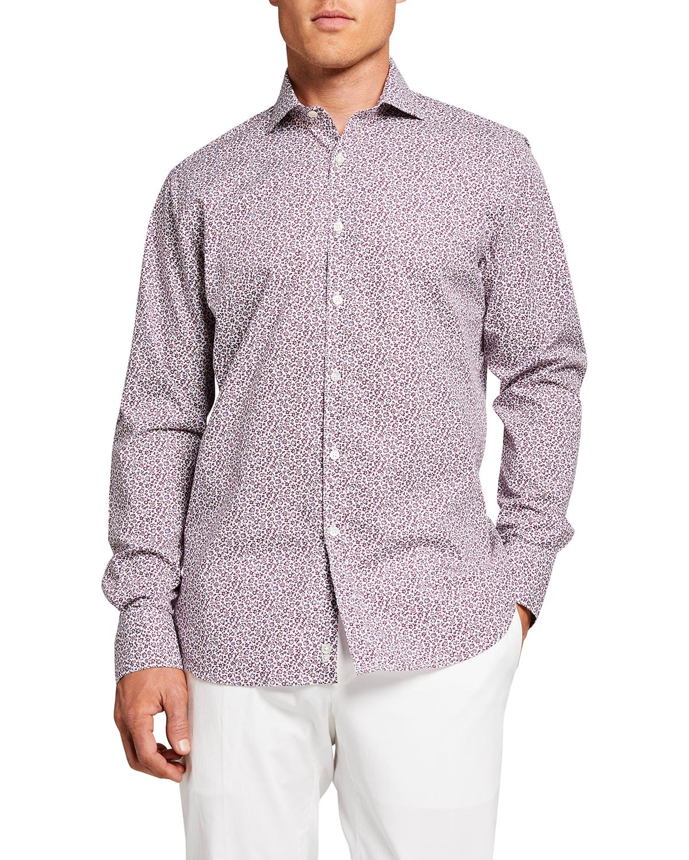 Men's Micro Floral Sport Shirt
