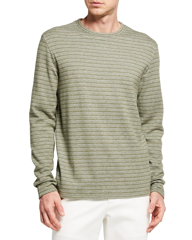 Men's Feeder-Stripe Crewneck T-Shirt