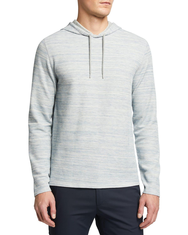 Men's Heathered Thermal Pullover Hoodie