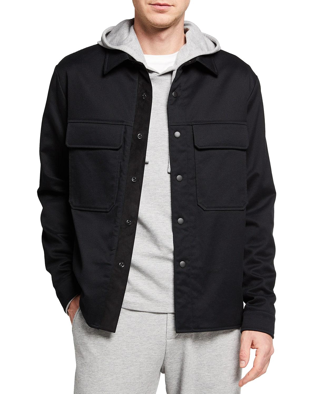 Men's Cotton Twill Shirt Jacket