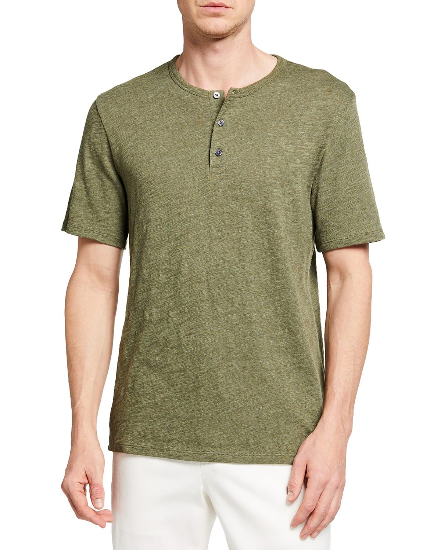 Men's Tri-Blend Henley Shirt
