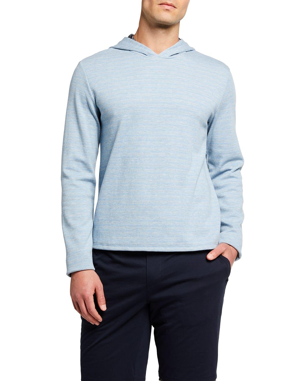 Men's Feeder-Stripe Pullover Hoodie