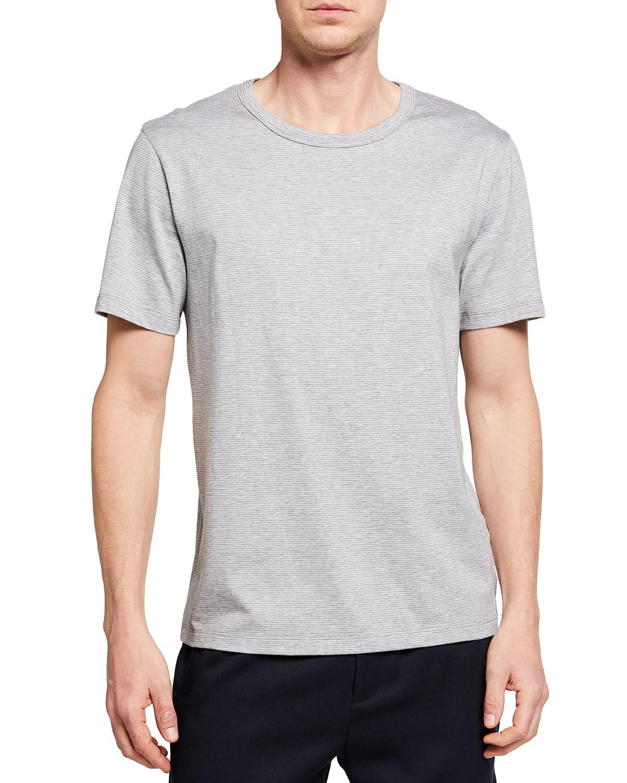 Men's Striped Silk-Blend Crew T-Shirt