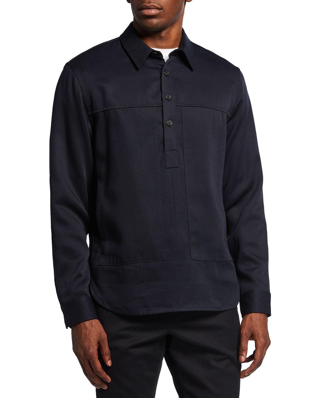 Men's Twill Popover Workwear Shirt