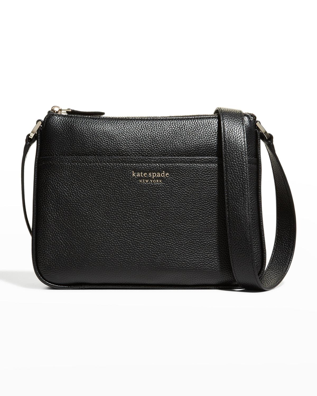 zip leather crossbody bag