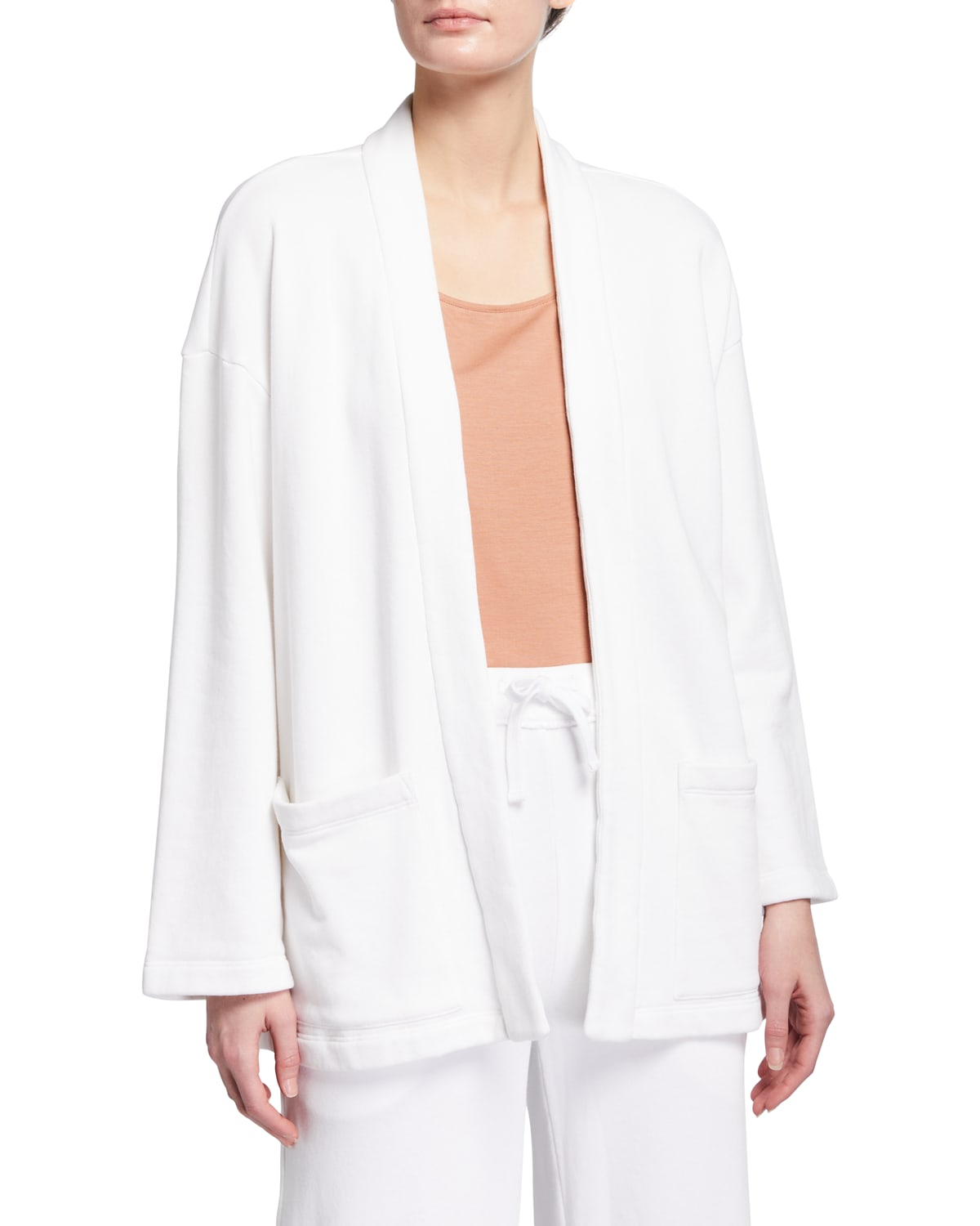 Organic Cotton French Terry High-Collar Jacket