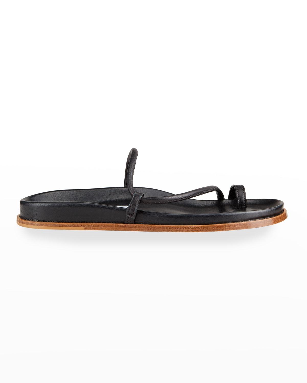 Bari Leather Toe Ring Sandals