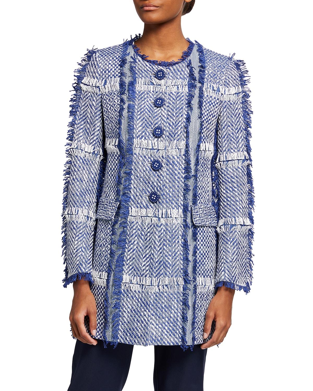 Tweed Fringe Topper