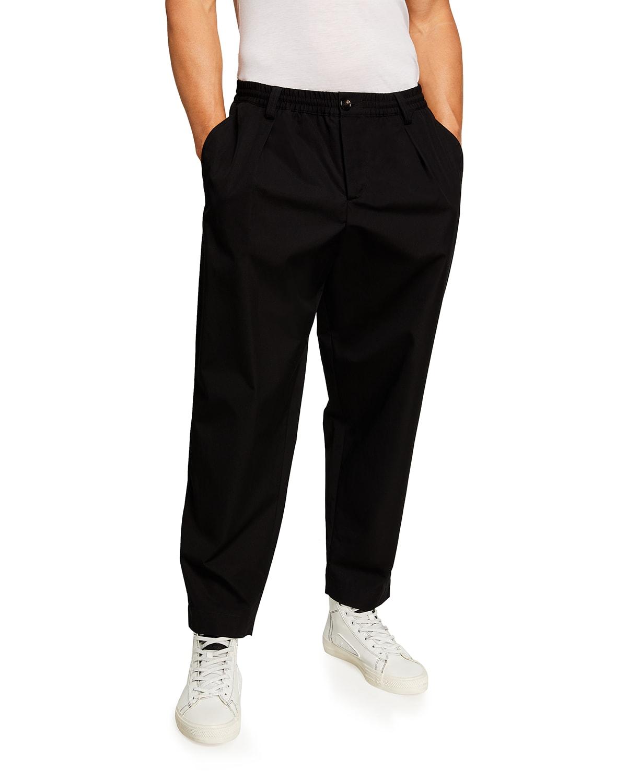 Men's Cropped Elastic-Waist Pants