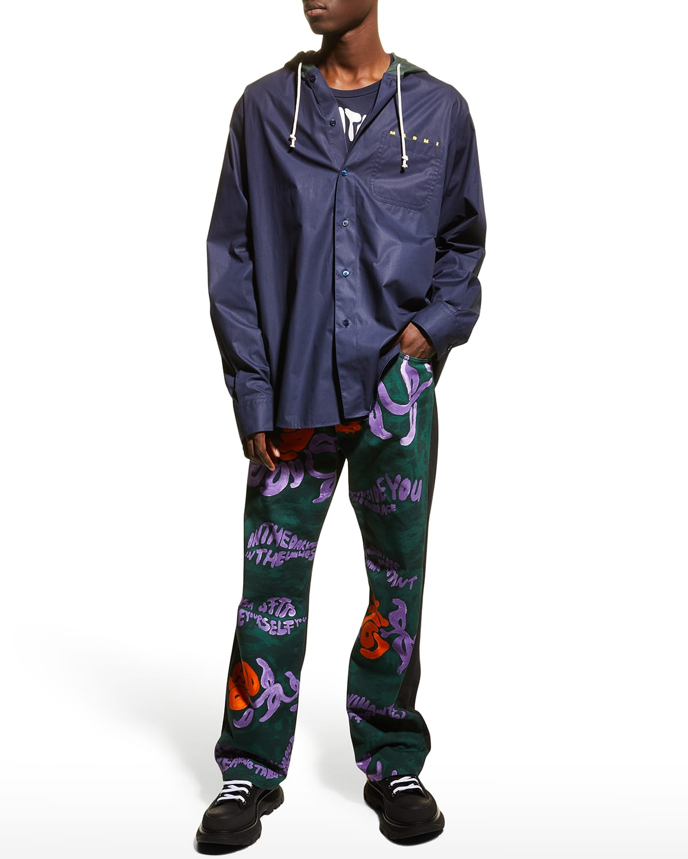 Men's Hooded Long-Sleeve Shirt