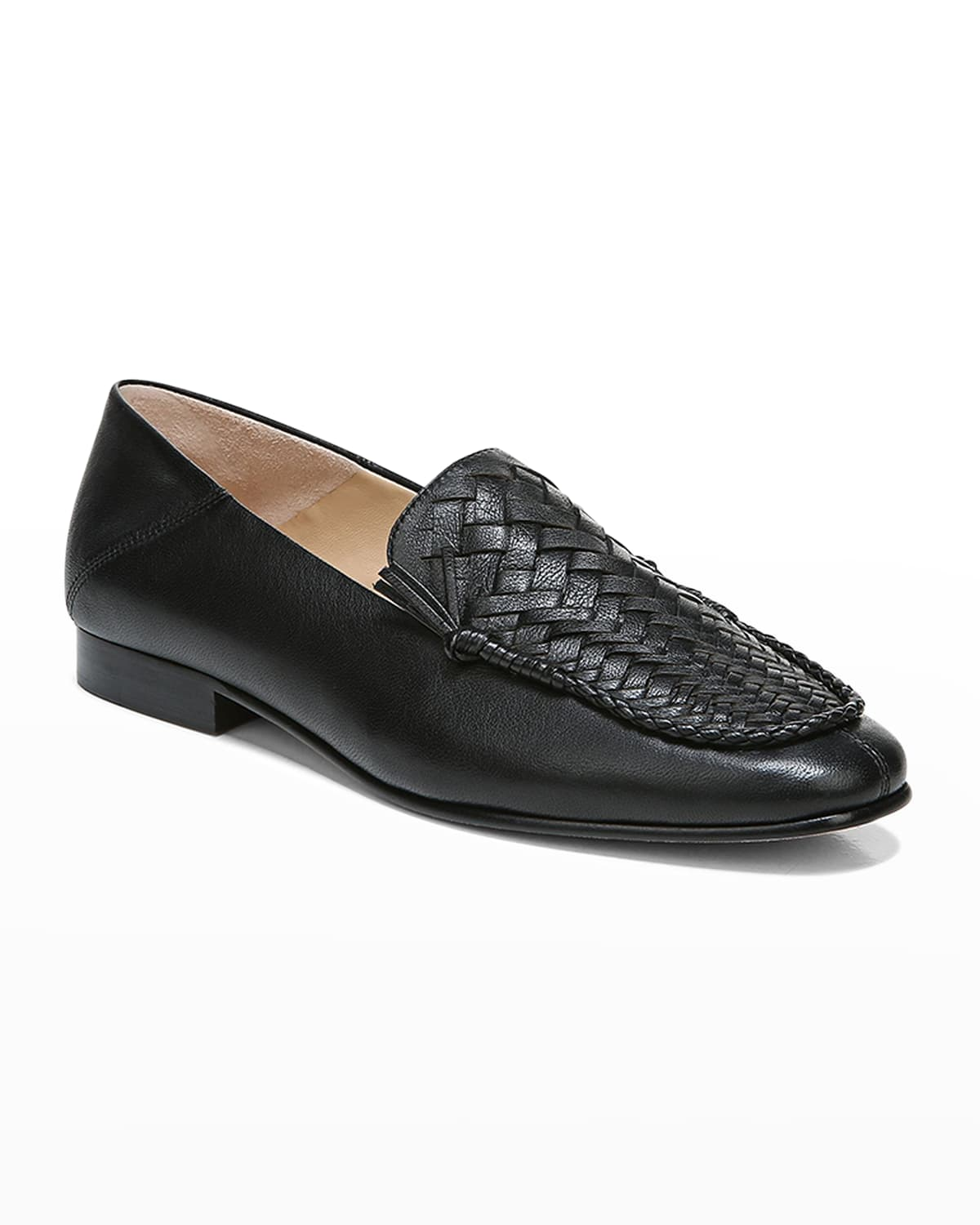 Anica Woven Leather Loafers