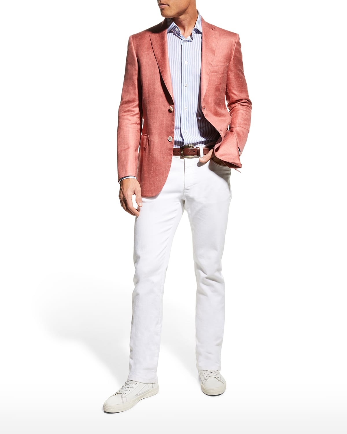 Men's Two-Button Heathered Jacket