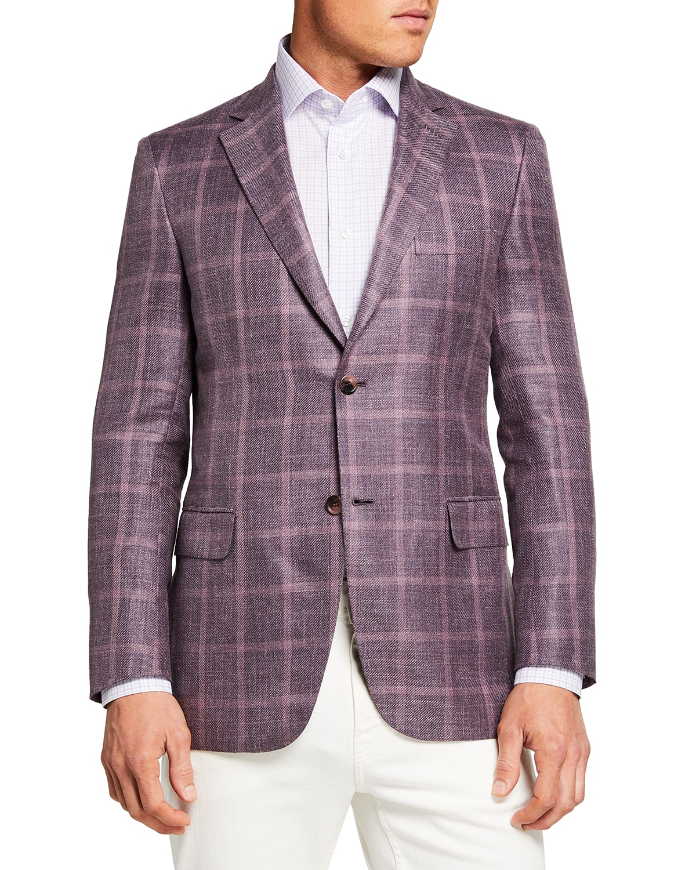 Men's Tonal Windowpane Sport Jacket