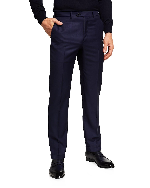 Men's Canvas Weave Straight-Leg Pants