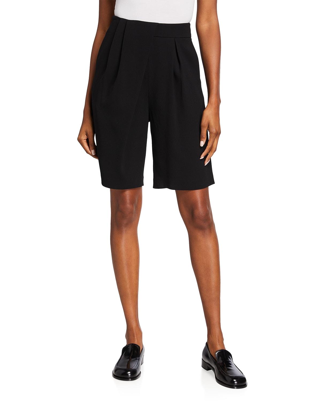 Asymmetrical Drape Shorts