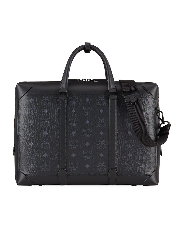 Men's Visetos & Leather Briefcase