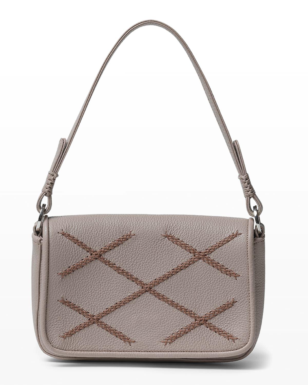 Iconic Stitched Mini Satchel Top-Handle Bag