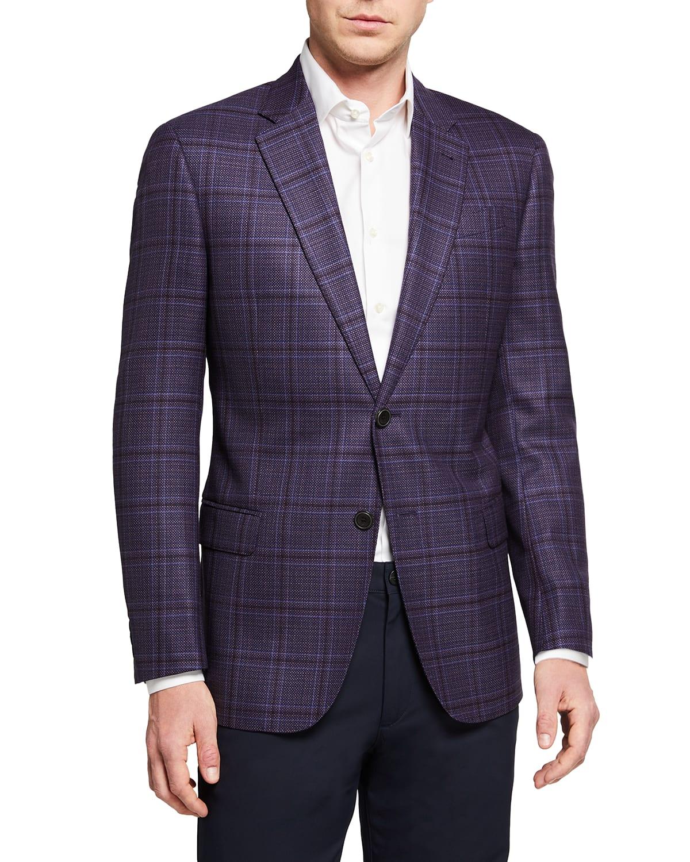 Men's Windowpane Wool Sport Coat