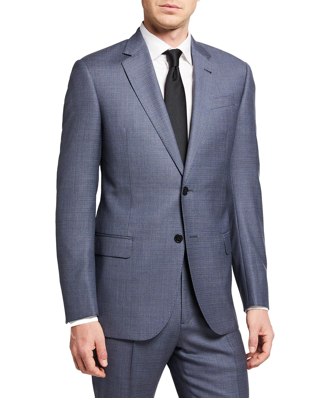 Men's Two-Piece Plaid Super 130s Suit