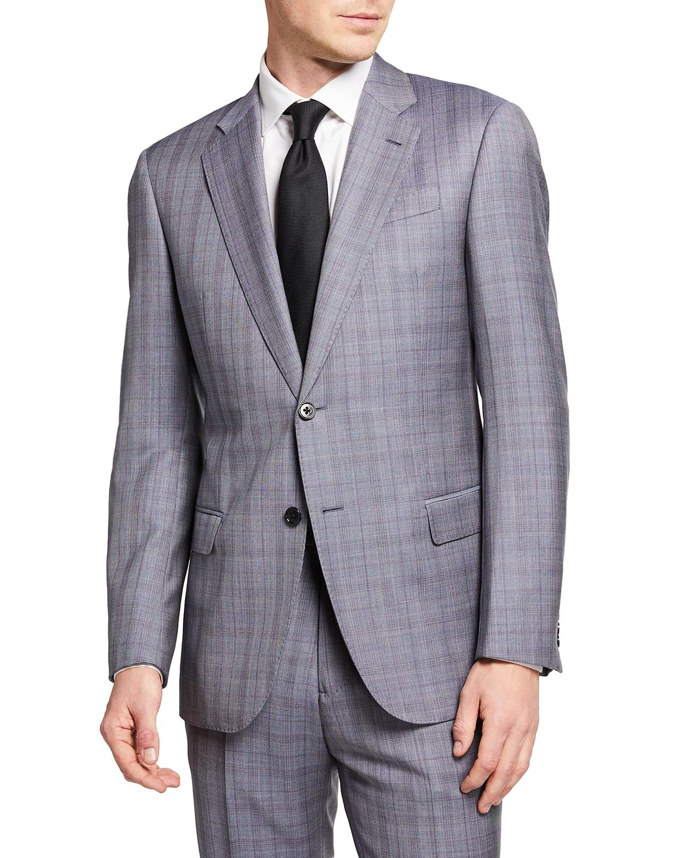 Men's Two-Piece Micro Box Super 130s Suit