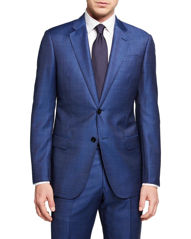 Men's Two-Piece High Blue Super 130s Suit