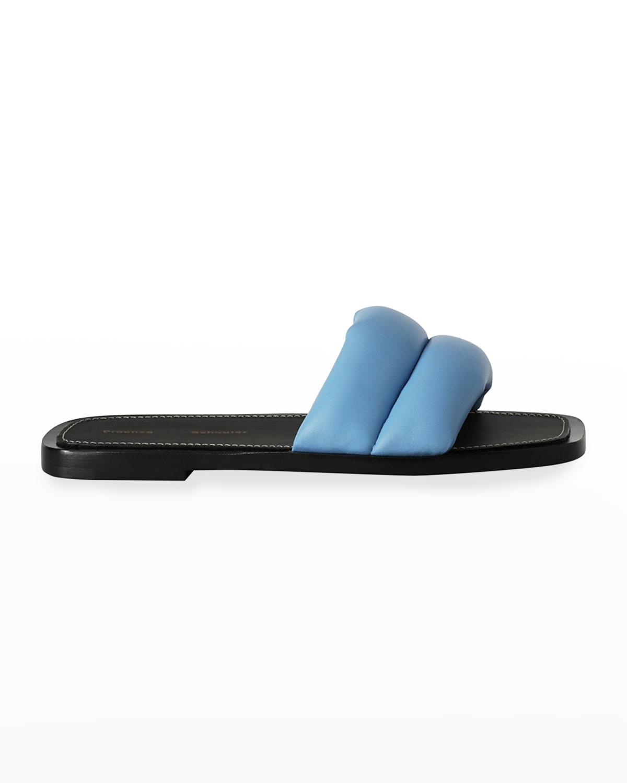 Puffy Lambskin Slide Sandals