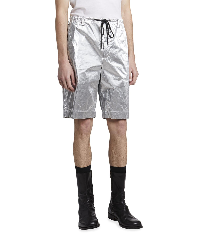 Men's Penny Metallic Long Shorts