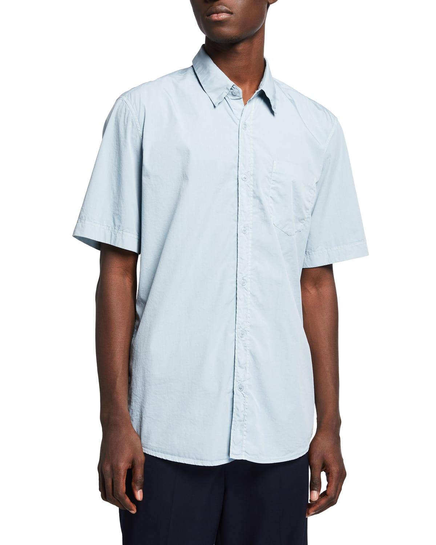 Men's Cheneys Cotton Poplin Shirt