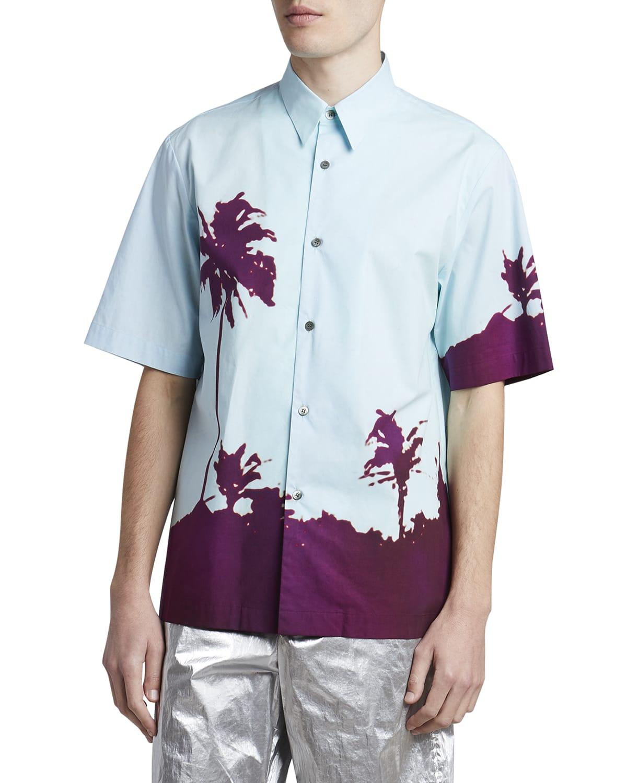 Men's Clasen Palm-Print Sport Shirt