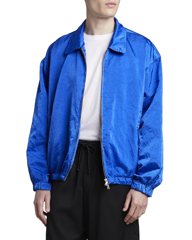 Men's Vond Shiny Nylon Bomber Jacket