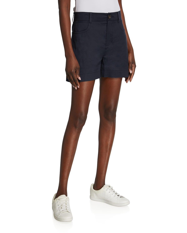 Casual Zip-Up Shorts