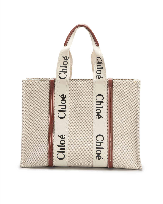 Woody Large Logo Canvas Shopper Tote Bag
