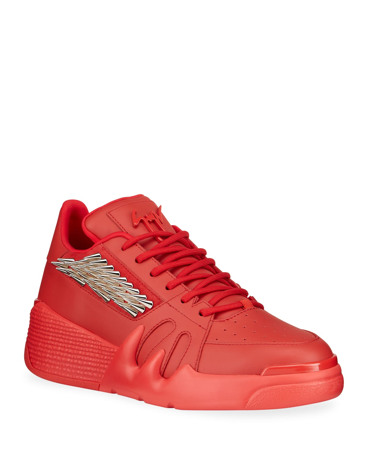 Men's Talon Spiked Leather Chunky Sneakers
