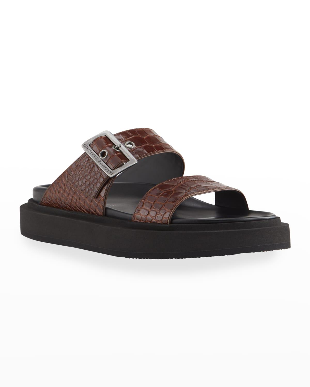 Men's Ryan 10 Mock-Croc Slide Sandals