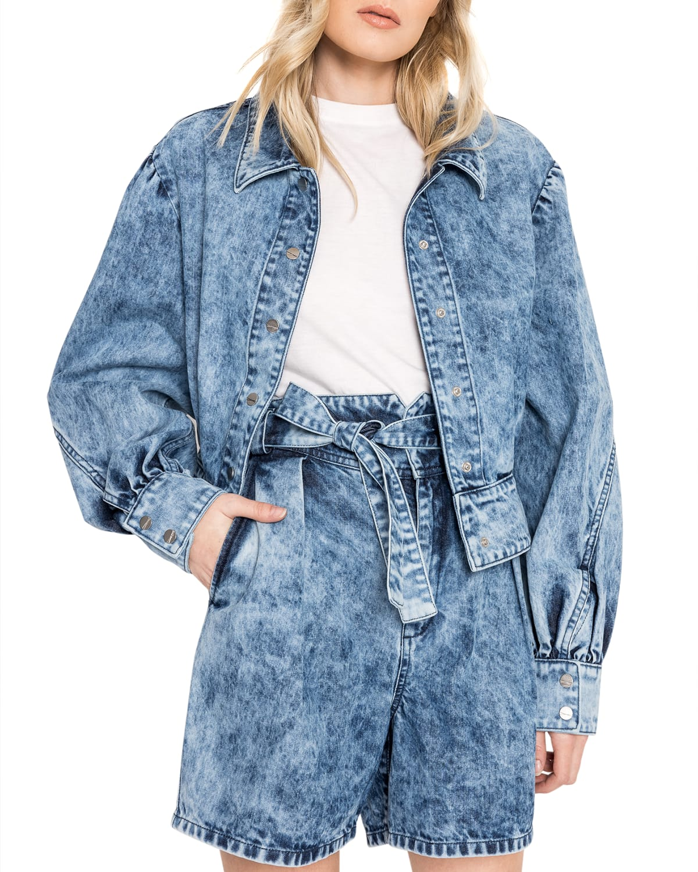 Kumi Acid Wash Denim Jacket
