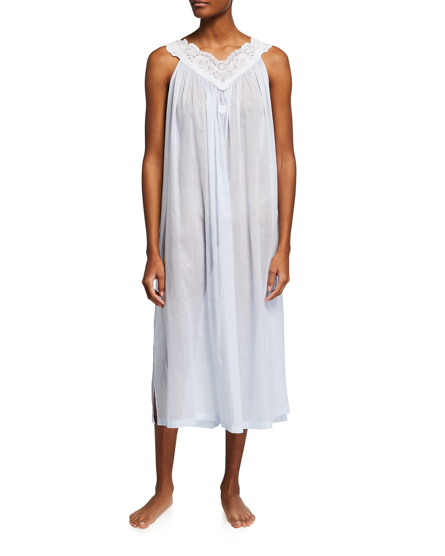 Amina 1 Sleeveless Long Cotton Nightgown