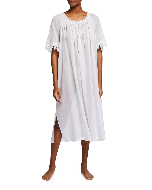 Yvette 2 Half-Sleeve Long Nightgown