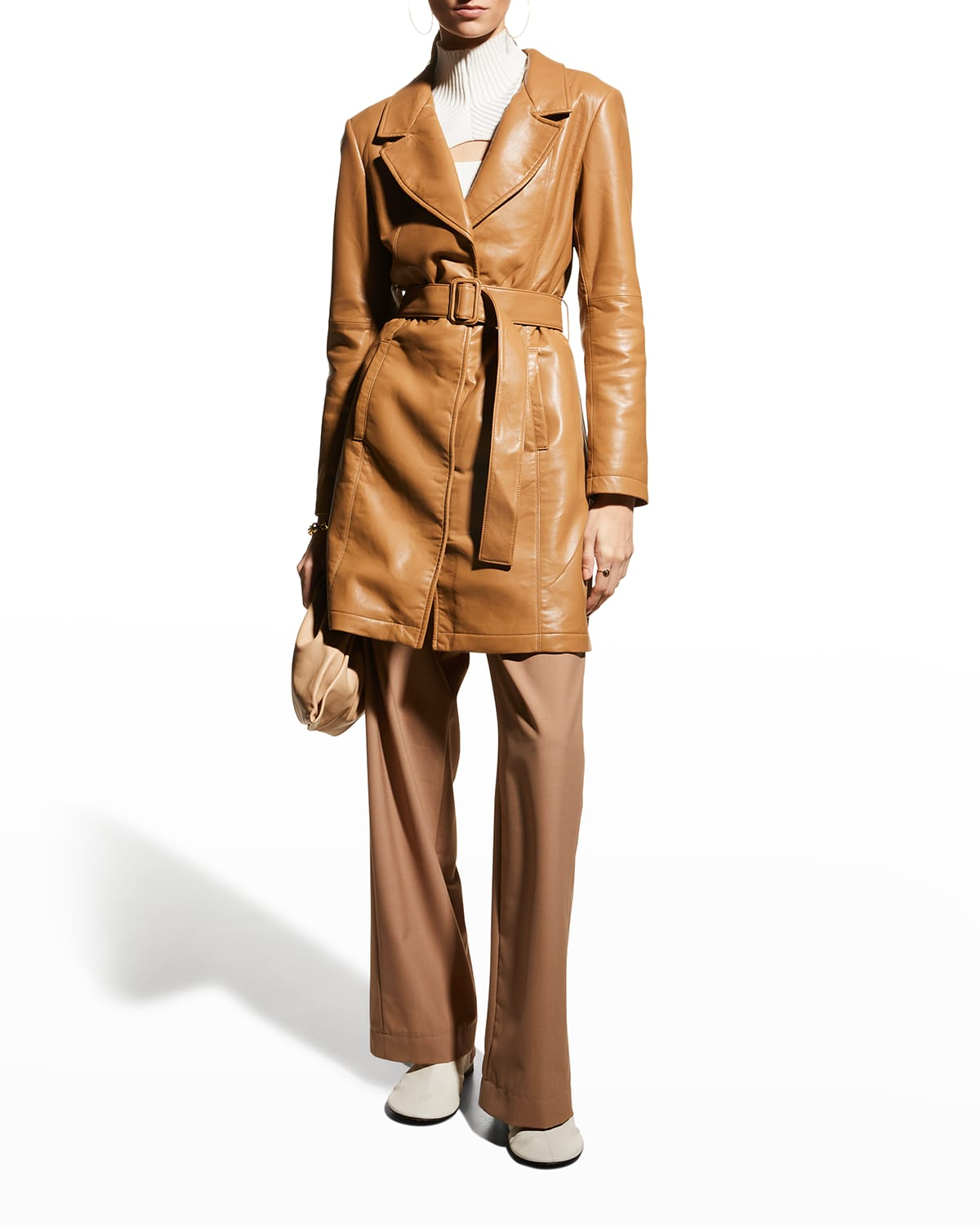 Crawford Recycled Leather Trench Coat