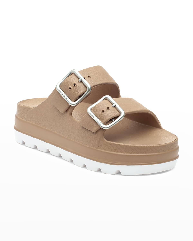 Simply Buckle Flatform Slide Sandals