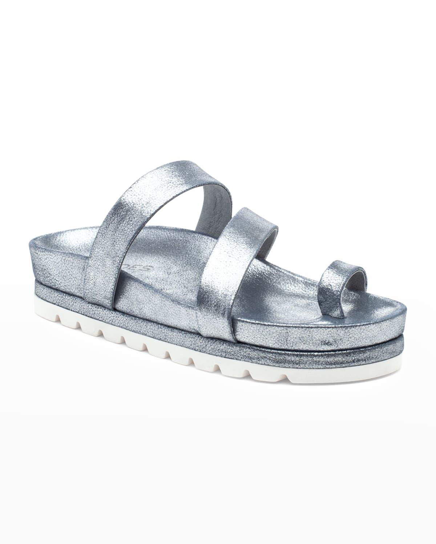 Roper Leather Toe-Ring Slide Sandals