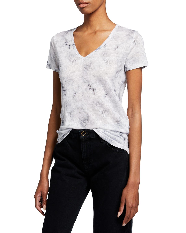 Cloud Linen V-Neck T-Shirt