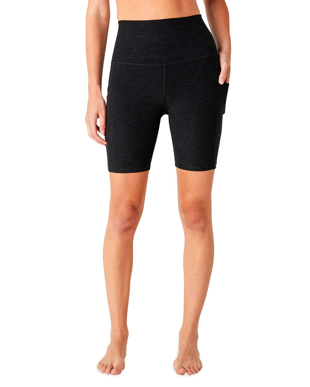 Space-Dye Team Pockets Biker Shorts