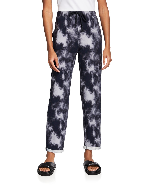 French Terry Tie-Dye Drawstring Pants