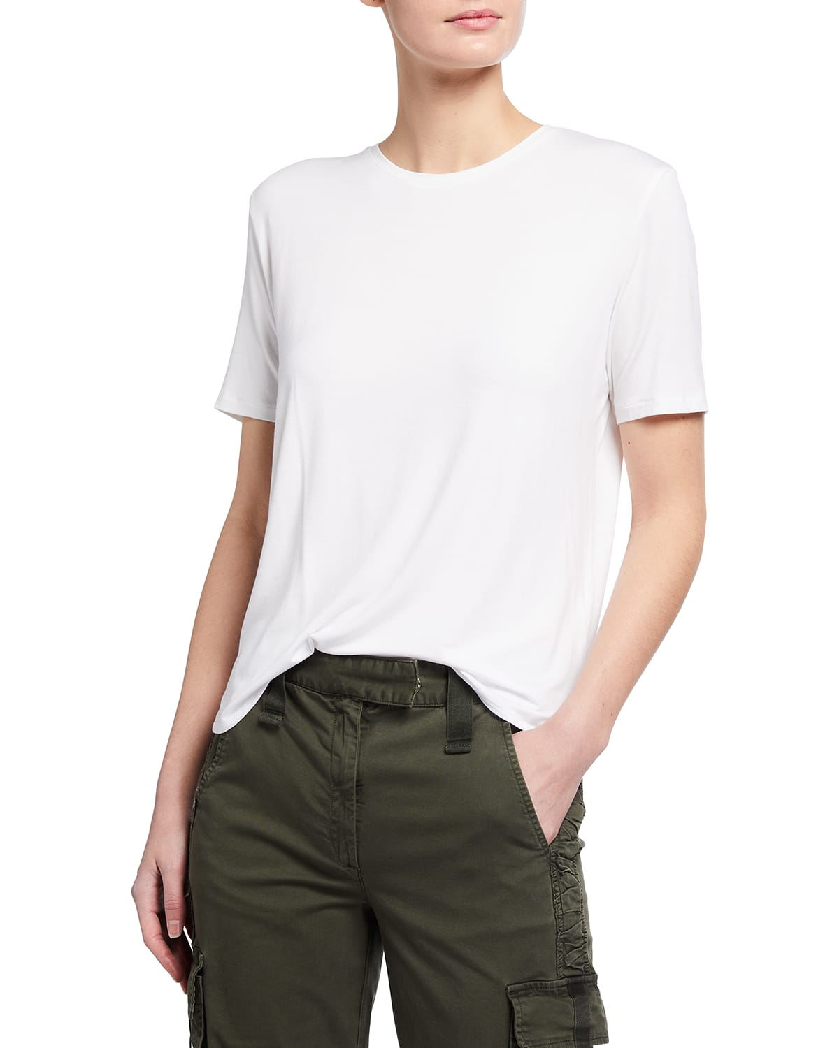 Soft Touch Semi-Relaxed Elbow-Sleeve Tee