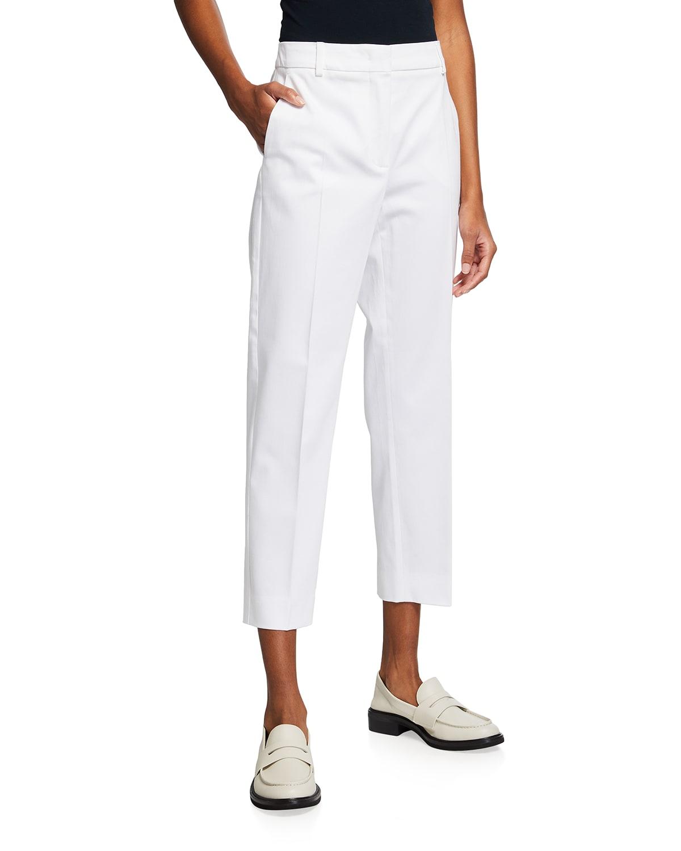 Cotton Stretch Cropped Calcut Pants