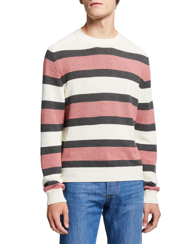 Men's Striped Cotton Sweater